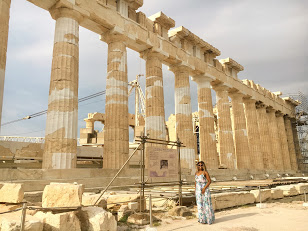 Never expected that I would ever get to the Acropolis. I had her to myself early that morning. I always loved Greek mythology.
