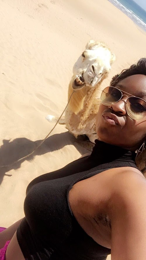 LOL. Who knew I could ride camels on the beach in Morocco?