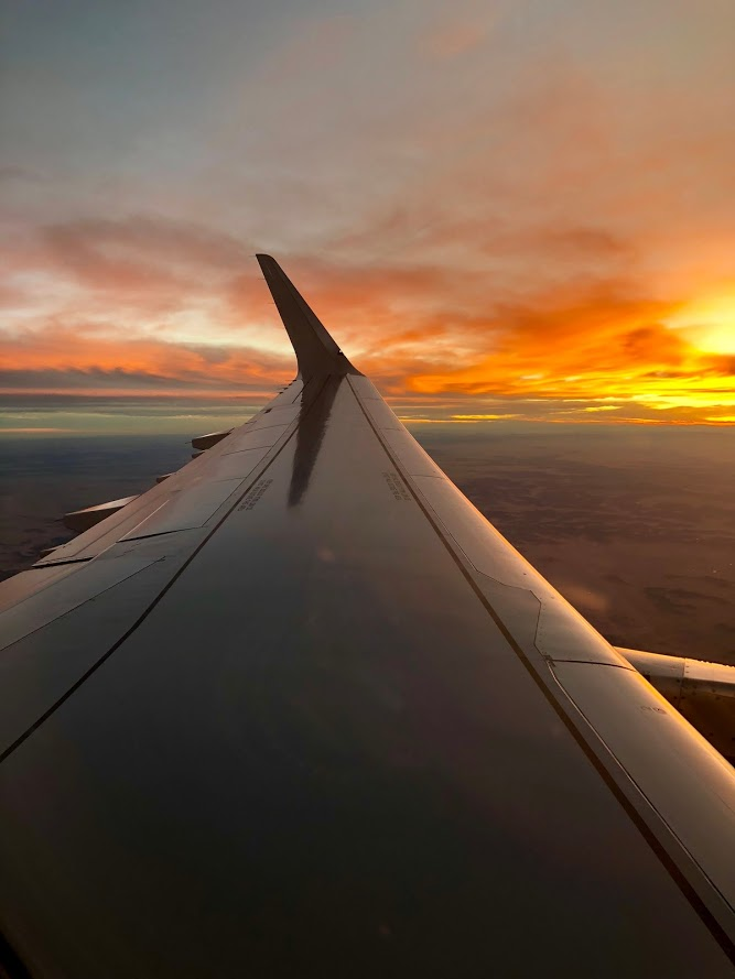 feel closer to God on a plane during sunrise / sunset.