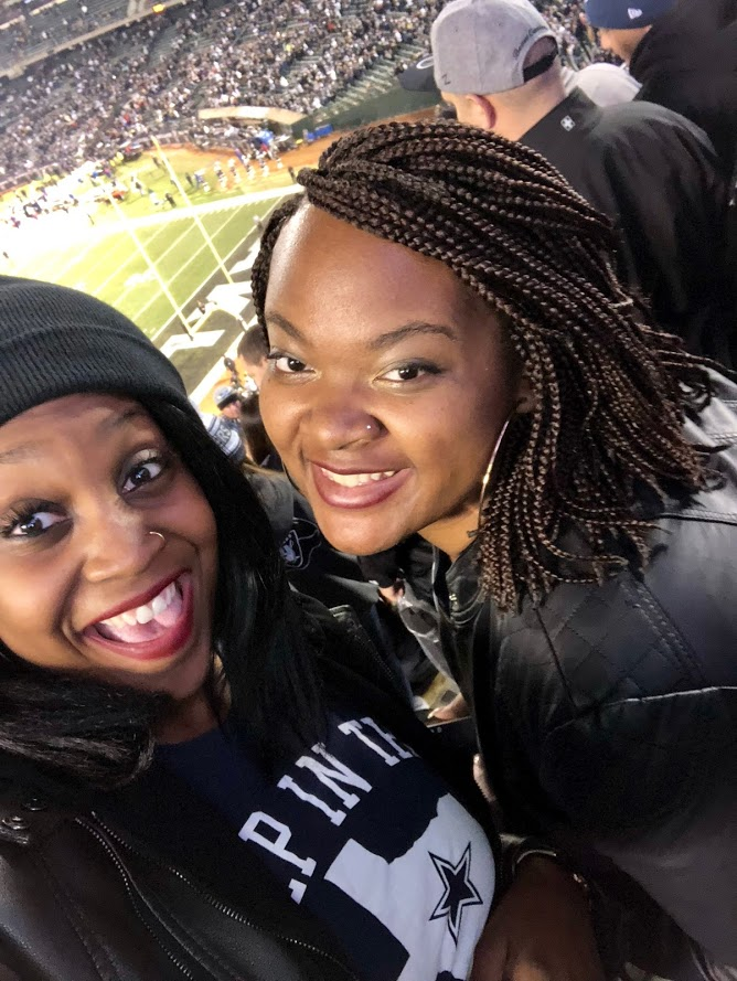 Watching the Cowboys win during an away game? Great! During it with one of my best friends and surprising her?!  PRICELESS !!