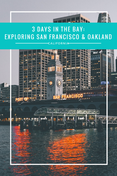 Have you ever visited the Bay Area of California? Read about my 3 days in the Bay during my girls' trip and my recommendations for where to visit in San Francisco and Oakland!