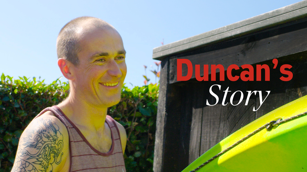 "Duncan  doesn't let his psoriasis knock his confidence, and he's always looking for ways to stay on the front foot. ""Diet's really important, do lots of research, even joining an online chat group is useful."""