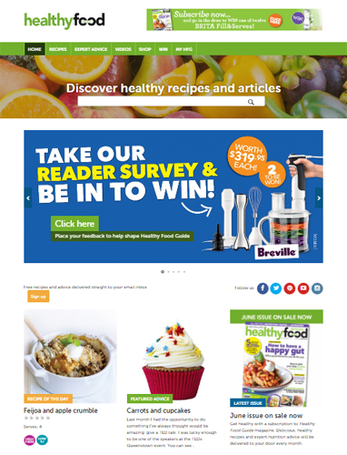 Healthy Food Guide website