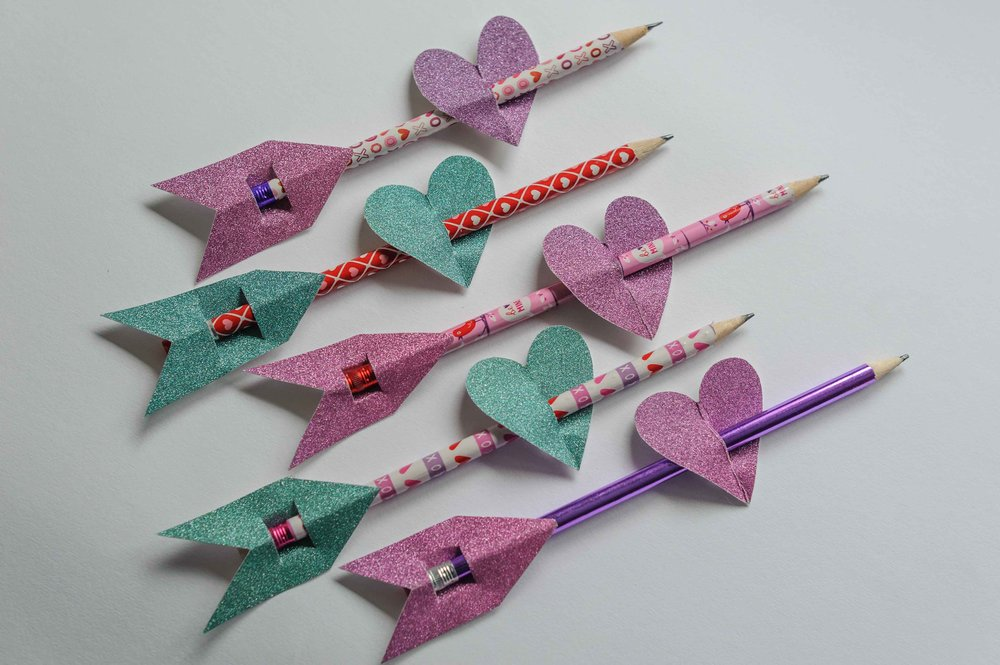 Valentines Day pencil arrows