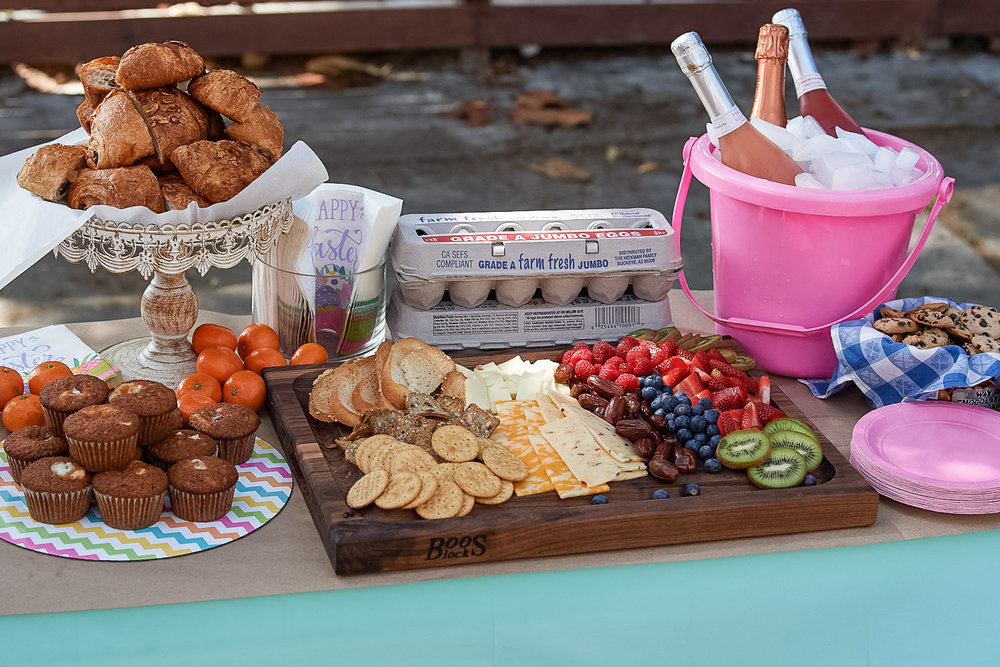 Toddler easter party food spread