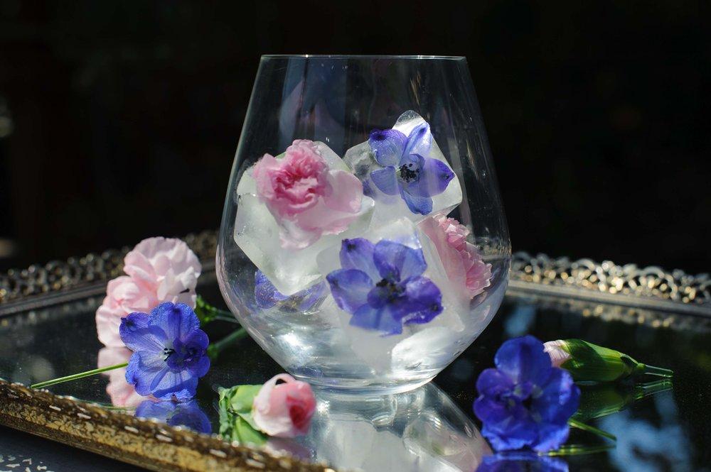 DIY floral ice