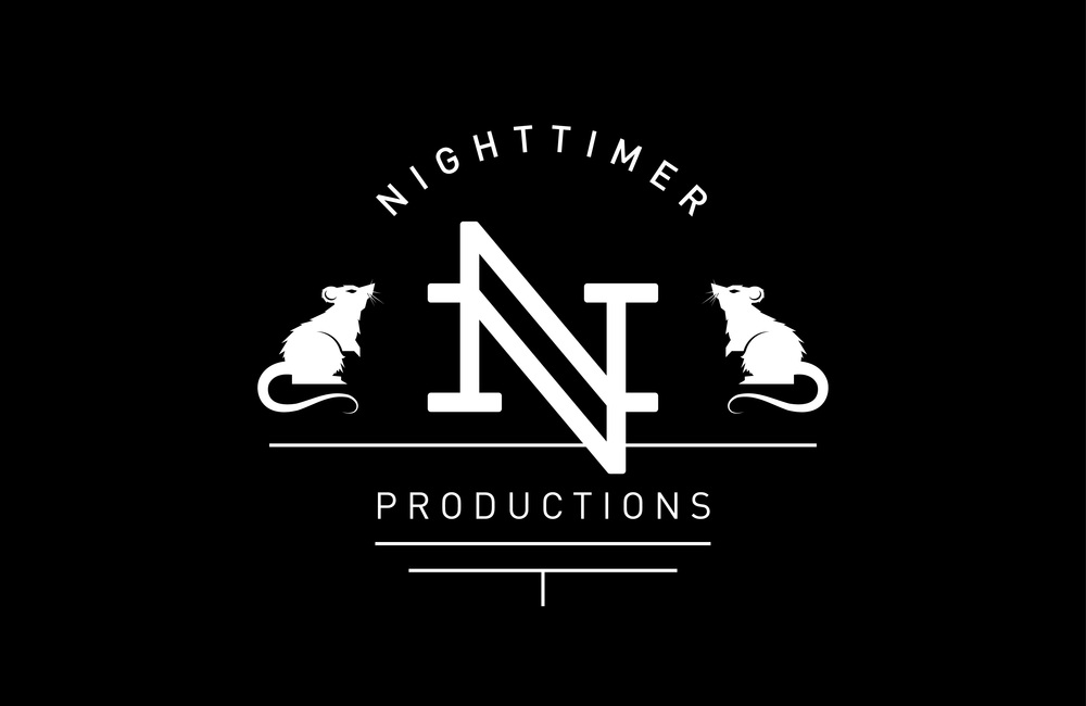 Full logo lock-up for Nighttimer Productions.