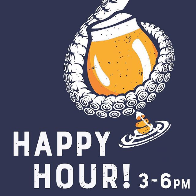 Yup, that's right! Happy Hour every Thursday from 3-6pm! $3 and $5 select beers and $5 house wine. Open @ Noon! 🍻