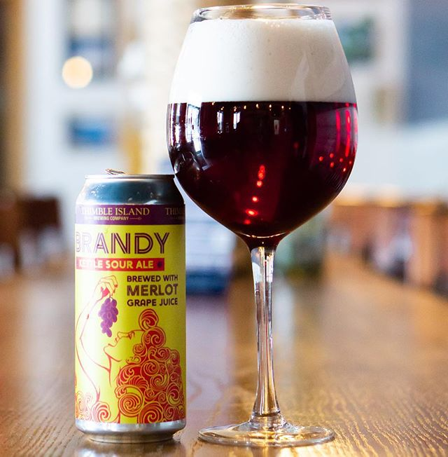 When you're looking for something different to drink, try our kettle sour brewed with merlot grape juice. Clocking in @ 10% you will have yourself a Saturday. Ask for Brandy! On draft and 4-packs available in the Tasting Room