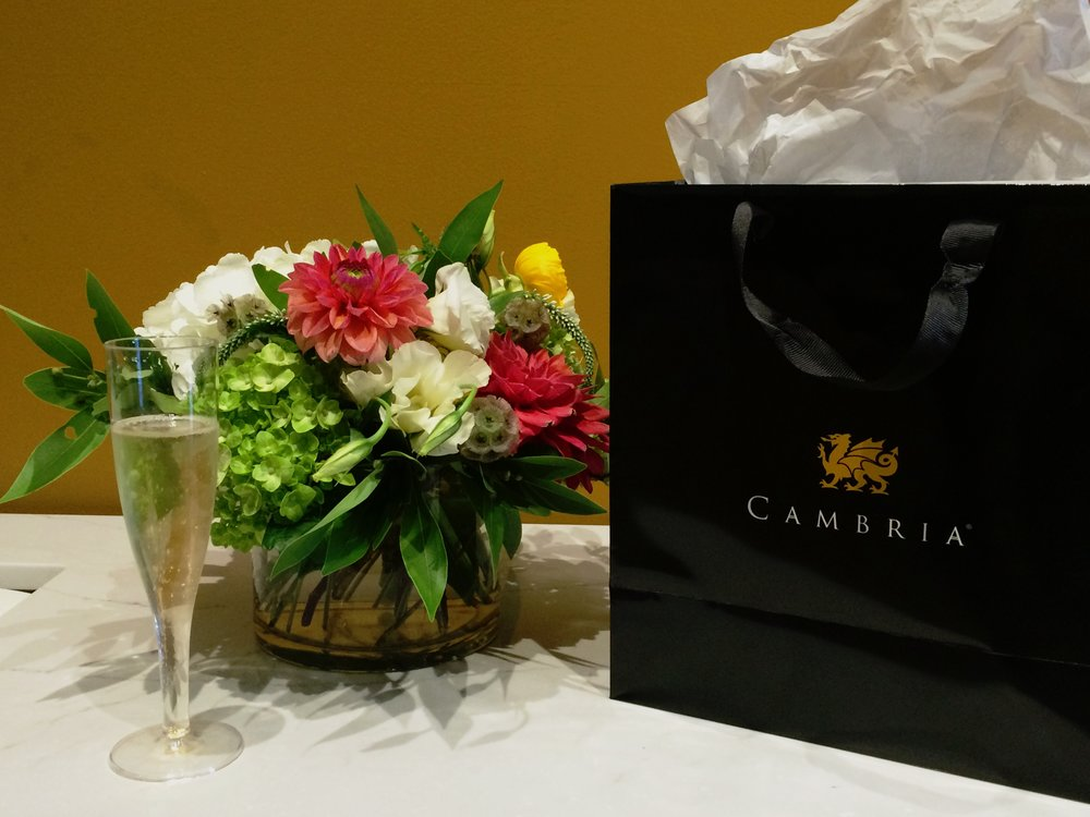 A scene from the Cambria pop-up at our Sacramento Street office