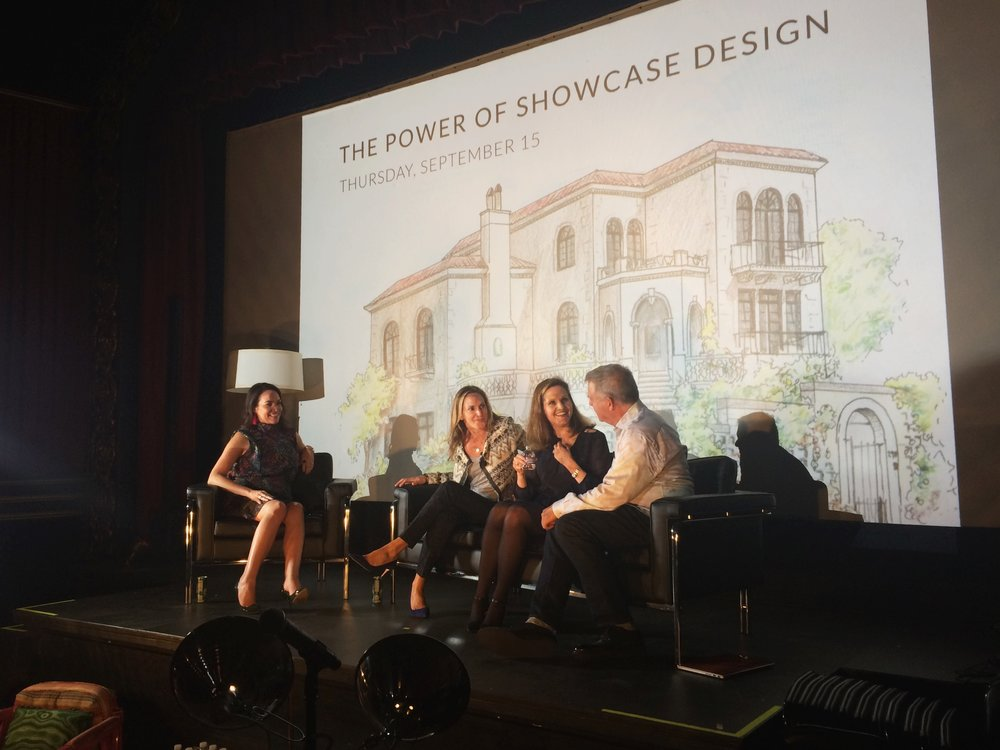 The Power of Showcase Design panelists from left to right: Krista Coupar, Julie Rootes, Annie Lowengart and David Duncan Livingston