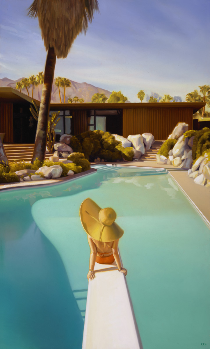 """Desert Style"", 50"" x 30"" original oil on canvas, by Carrie Graber"