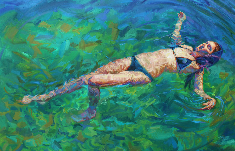 "Isabel Emrich,  Summer Sunshine , 40"" x 60"", oil on canvas, courtesy of Chloe Gallery"