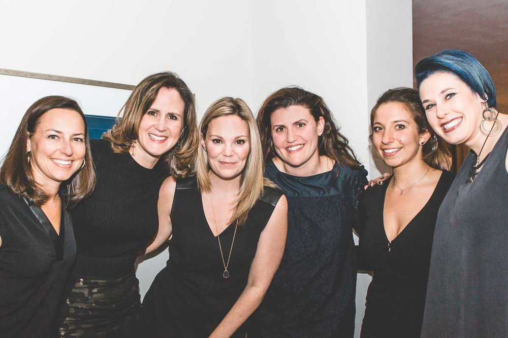 The Team: Ashley Emala, former designer Sara Robertson, Sandra Funk, Ranya Barrett, Sarah Harris, and Samantha Lanza. Photo credit: Lisa Kollberg