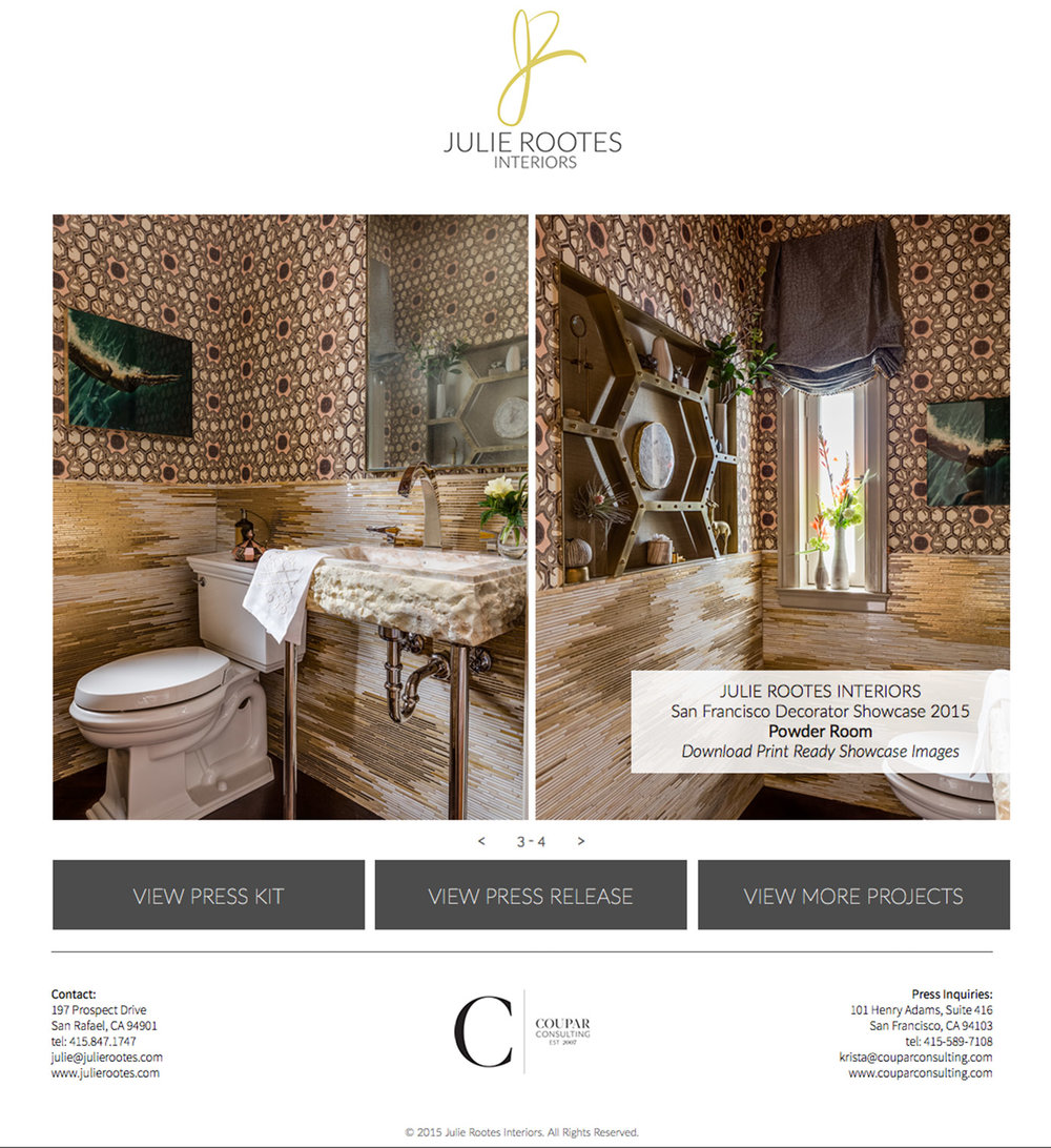 Julie Rootes virtual media kit for the Decorator Showcase 2015