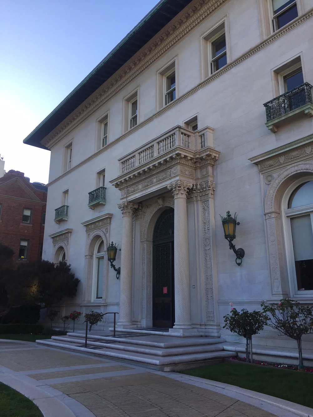 James Flood mansion, location of the ICAA's lecture series.