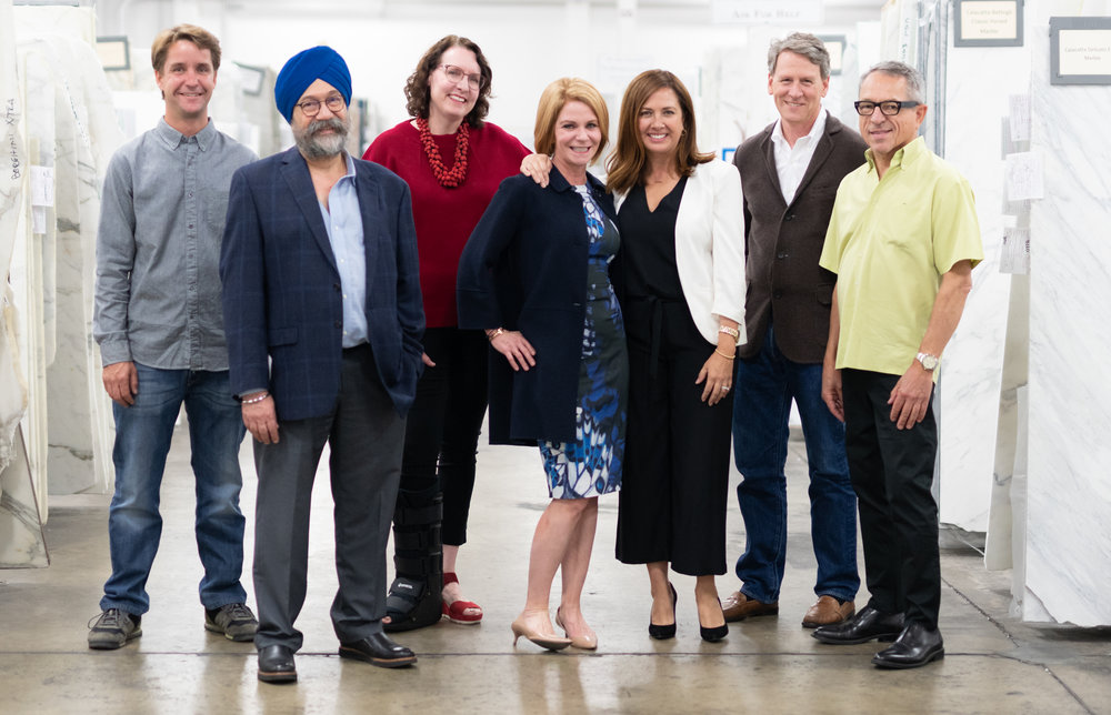 From left to right: Wakey Mist of Northwall Builders, Dilmohan Chadha of Integrated Resources Group, Mary Jo Bowling of Luxe Interiors + Design, Terri Kerwin of Kerwin Associates, Linda Sullivan of Sullivan Design Studio, Daniel Garber of Fergus Garber Young Architects, and Randy Thueme of Randy Thueme Design.