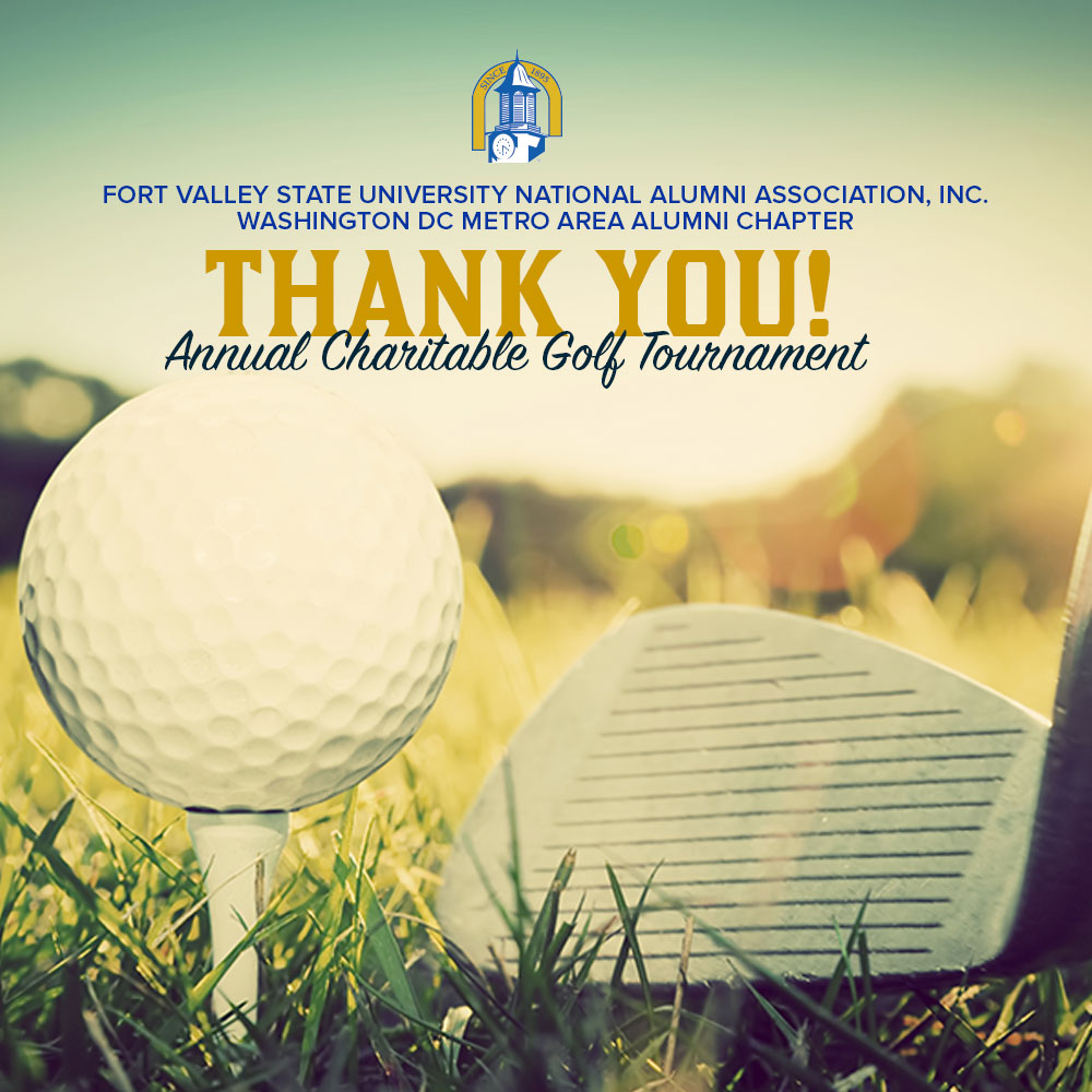FVSU DC Chapter Golf Tourney Thank You