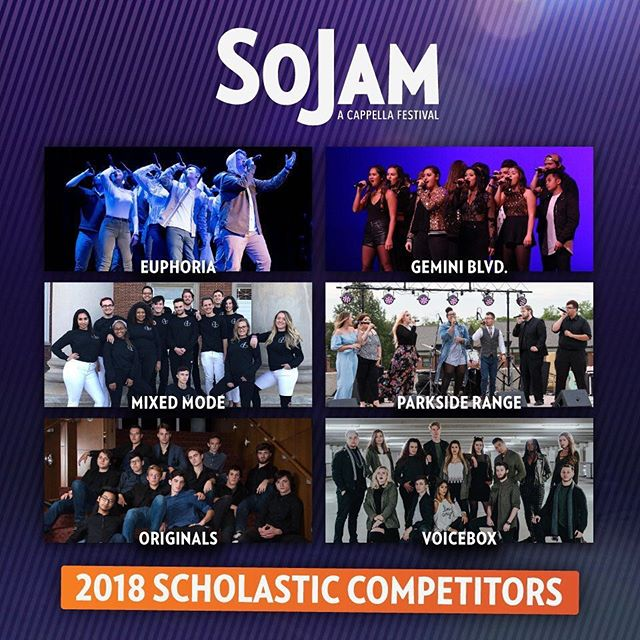 We're THRILLED to announce that we have been selected to compete in the SoJam A Cappella Festival Scholastic Competition! We can't wait to get down there and perform with these incredible groups!