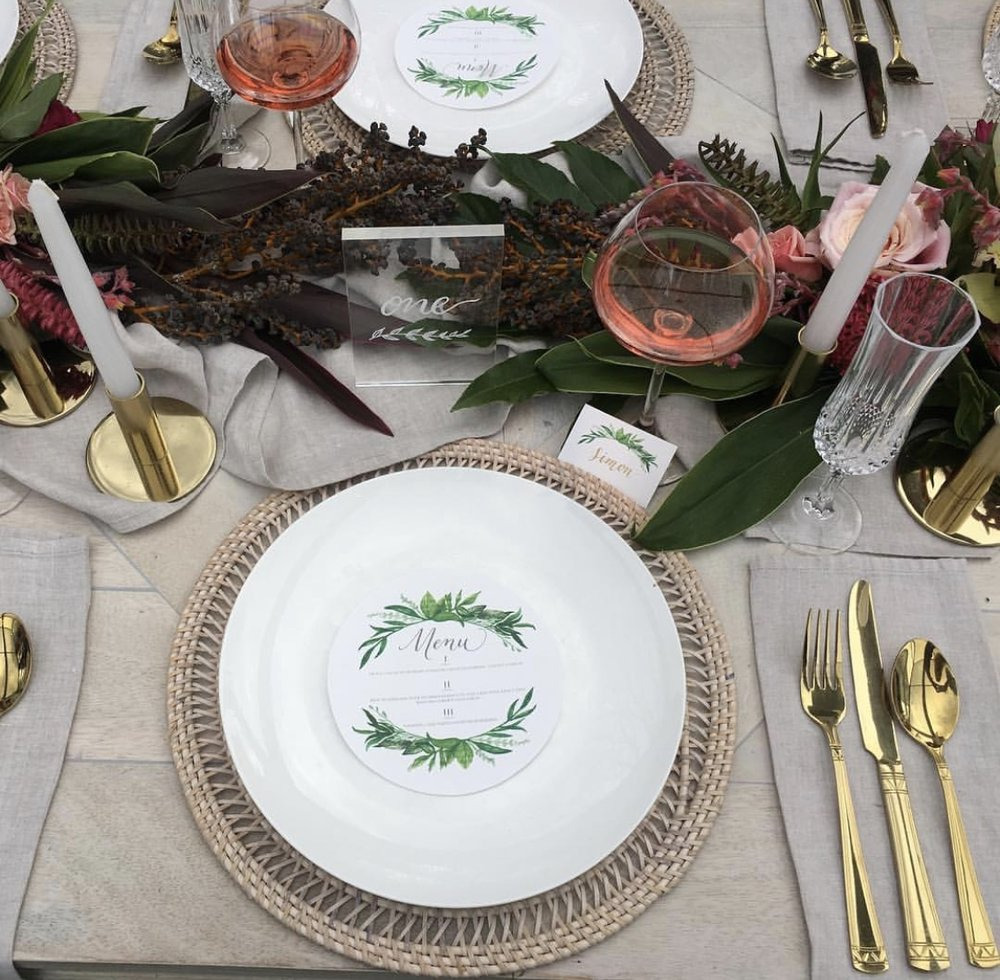 Our Natural Napkins and runner, styled by  The White Wedding Club
