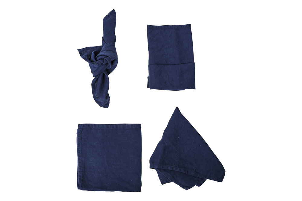 Indigo Napkin, $2.70 inc GST & Cleaning, enquire  here