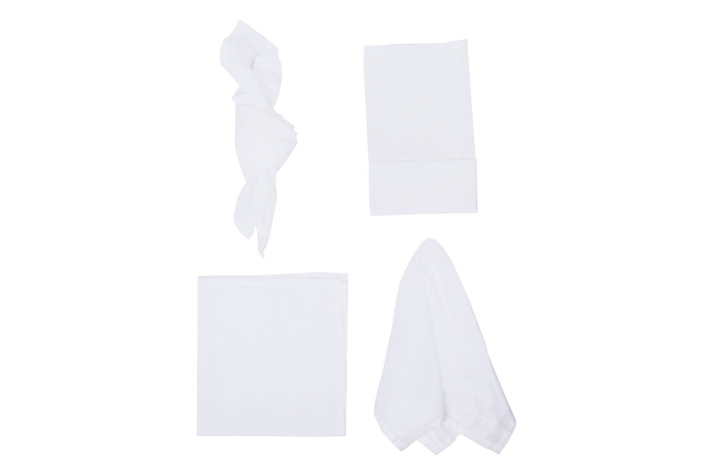 White Napkin, $2.70 inc GST & Cleaning, enquire  here