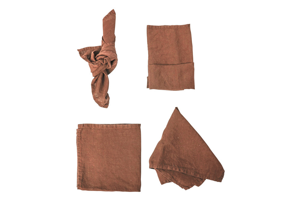Rust Napkin, $2.70 each, inc GST & Cleaning, enquire  here