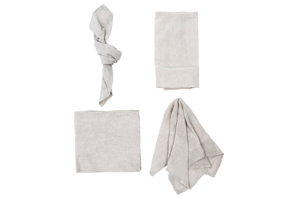 Natural Napkin, $2.70 each inc GST & Cleaning, enquire      here
