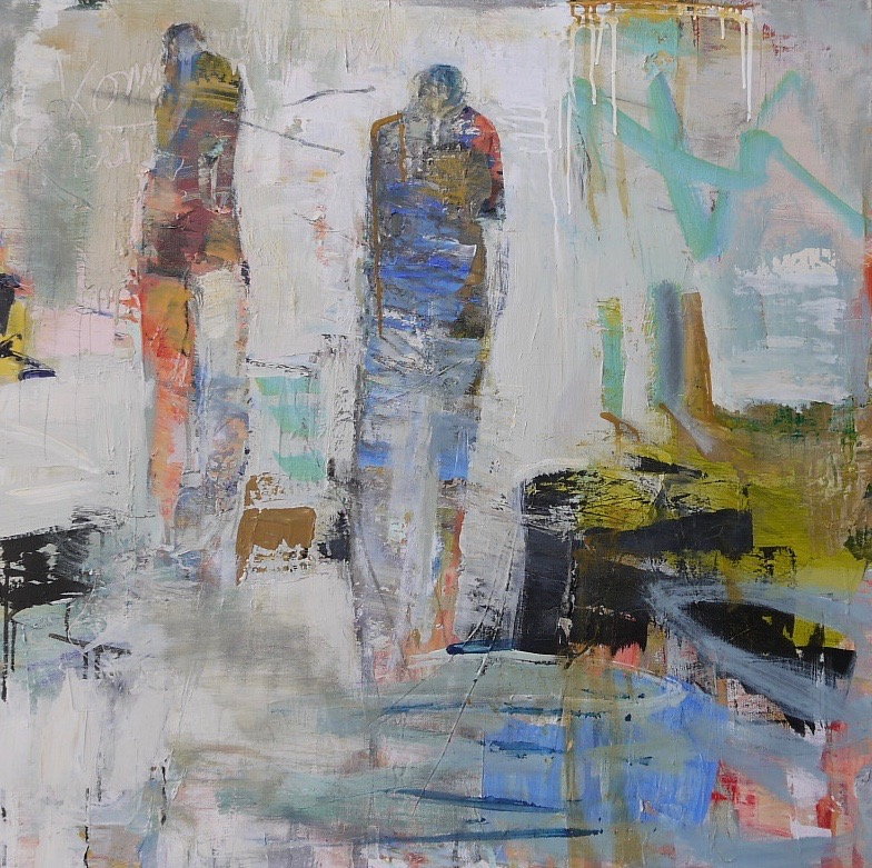 """following you   36"""" x 36"""" sold"""