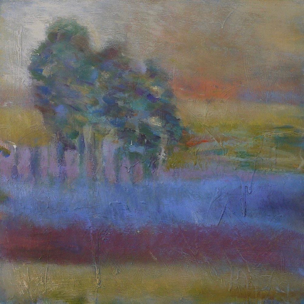 "landscape in blue 24"" x 24"""