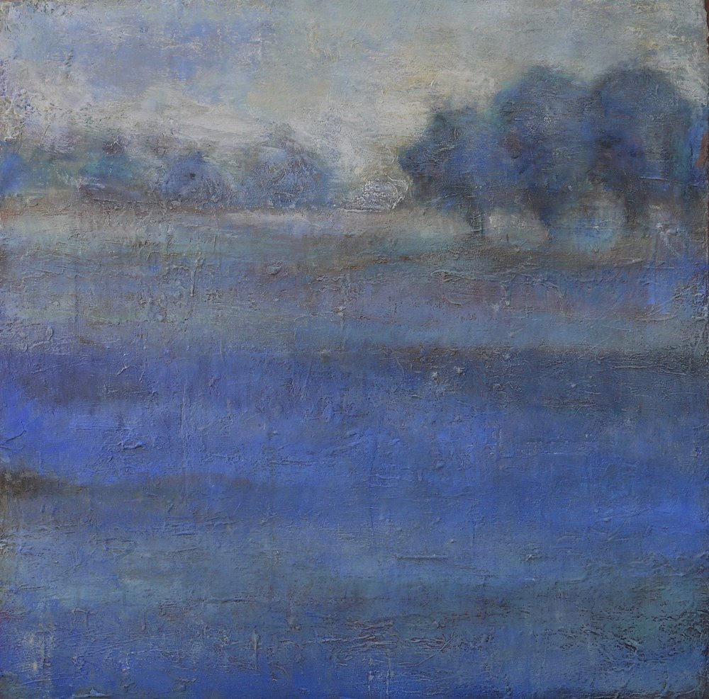 "fields of blue  36"" x 36"""