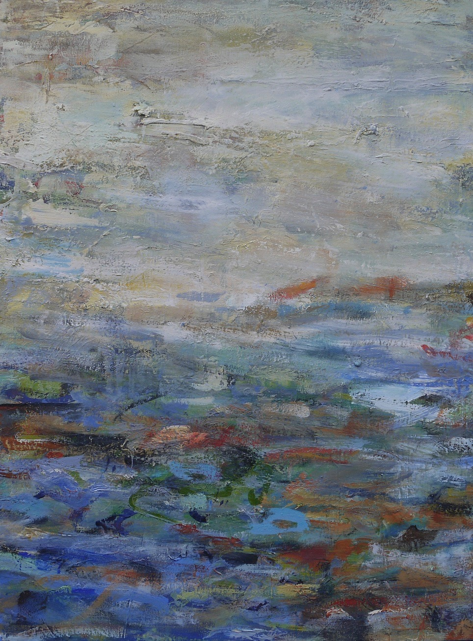 "landscape in blue  30"" x 40"""