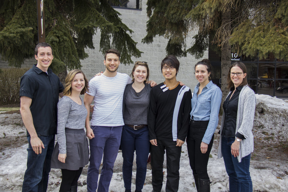 February 2017: Mark, Kelli, Nik, Amanda, Michael Min Way, Rebecca, and Alison. Photo credit: Marc Bélanger