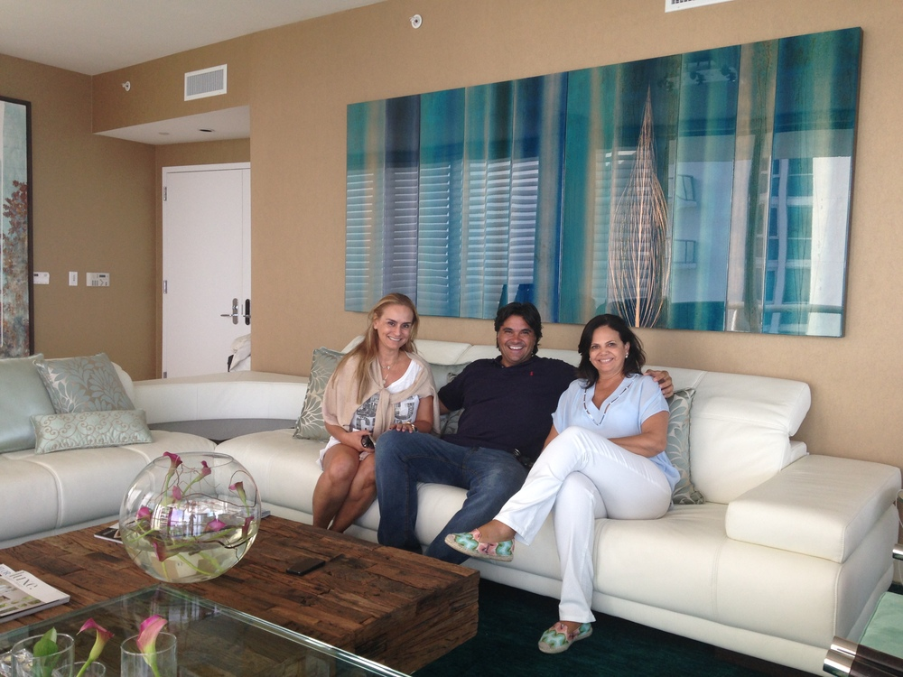 """ Doze ""  48 x 140inches   Private collection,  Sunny Isles Beach, FLWith Myrna Porcaro and Ruth Guimarães"