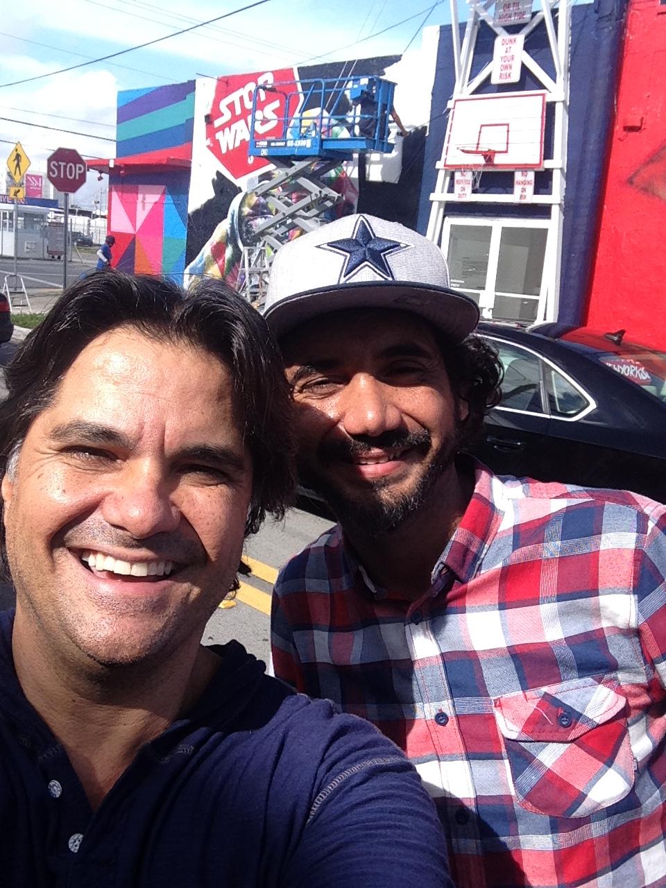 """With street artist """"Kobra"""", Wynwood, FL  2015"""