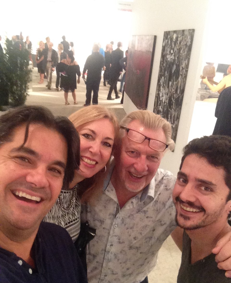 VIP opening with and David Leon, Belinda and Peter Pried      Art Miami, FL 2015