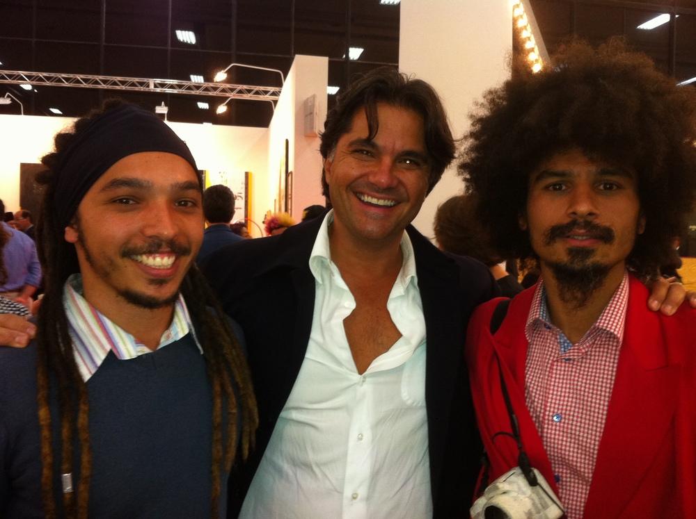 with a friend a artist Paulo Nazareth  SP Art, Brazil  2013