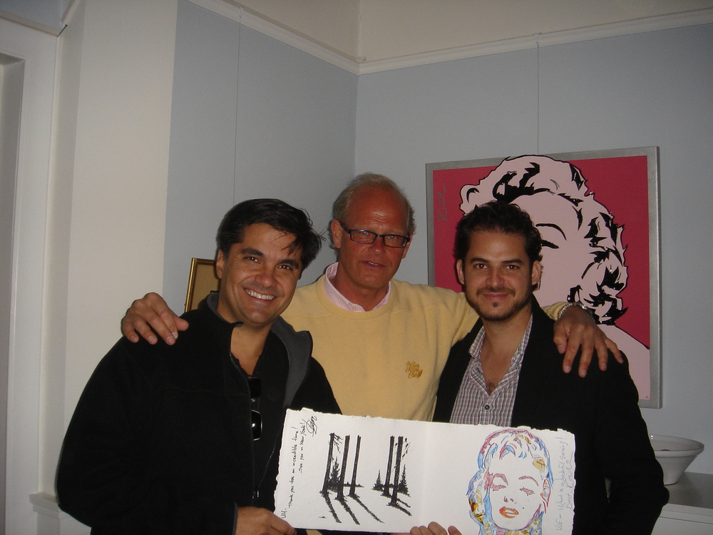 With a friend and artist Michael Kalish,   Stockholm 2007