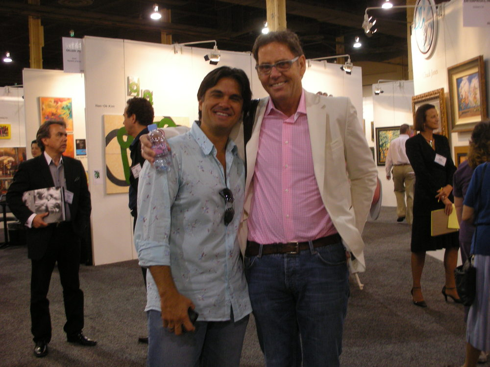 With a great friend and art dealer Larry Win    Las Vegas, 2008