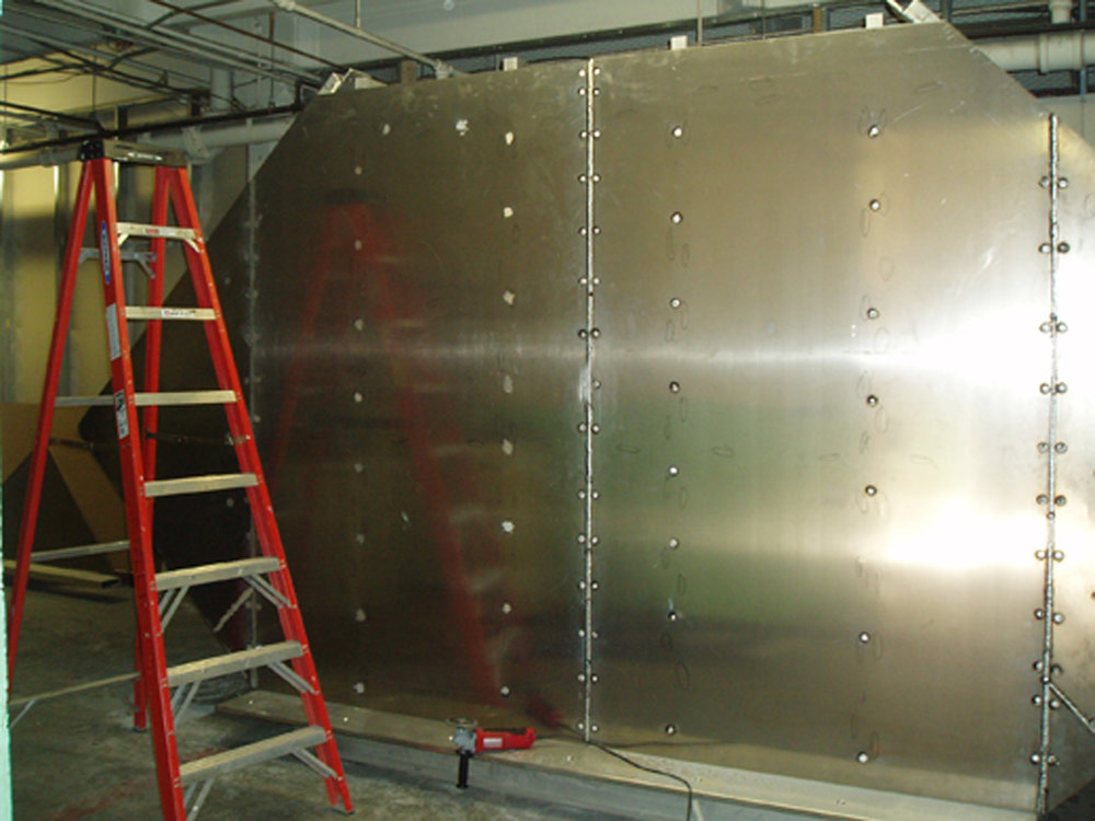 Fabrication process, Rochester, NY 2005.