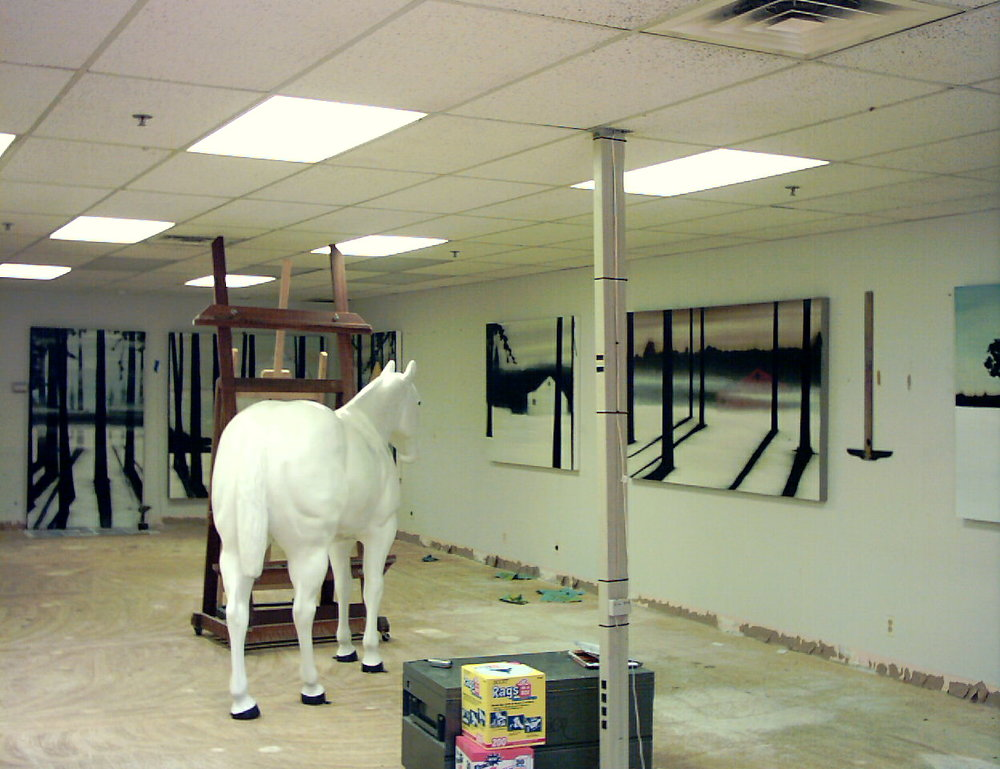 "When the ""Horse"" arrived at my Rochester, NY Studio. December, 2004."