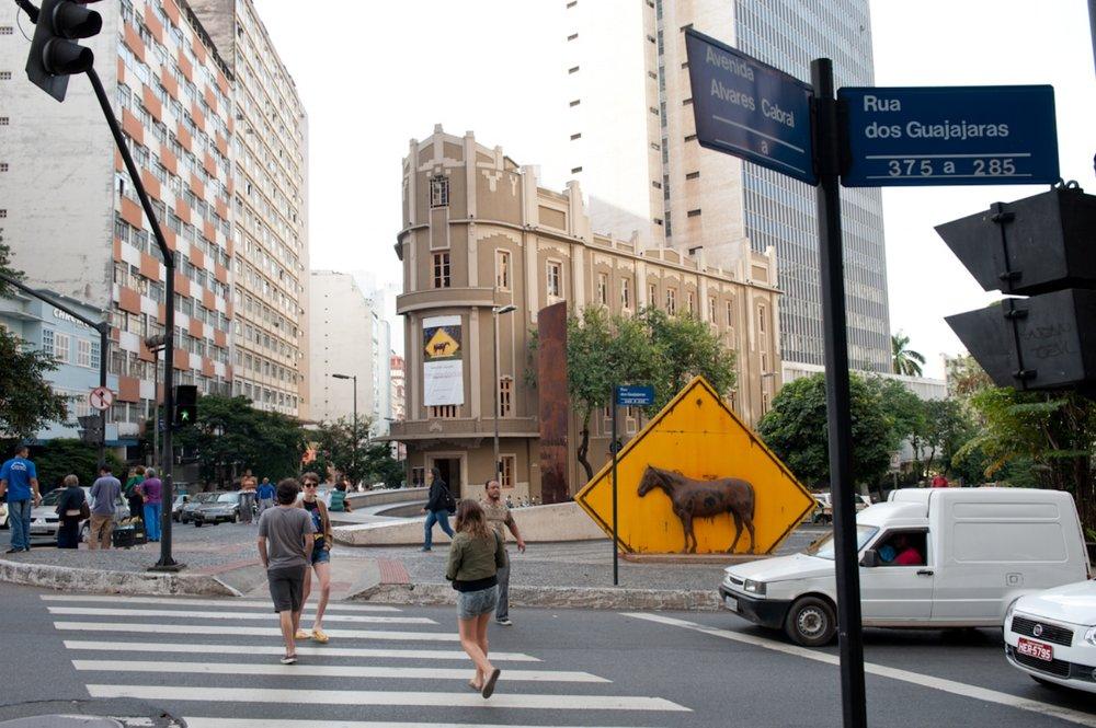 """""""in situ"""" at Museum Inima de Paula, Belo Horizonte, Brazil."""