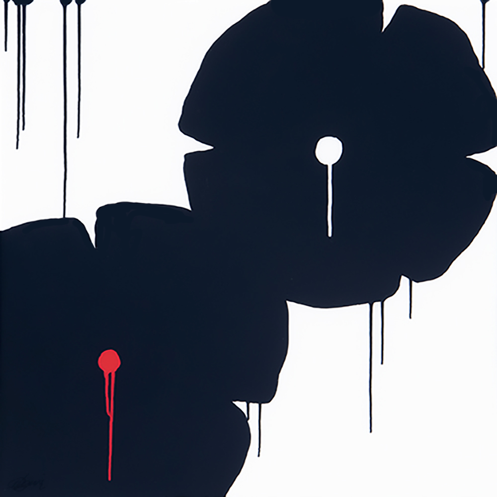 """ FLOWERS ""   Original acrylic paintings on panel with resin."