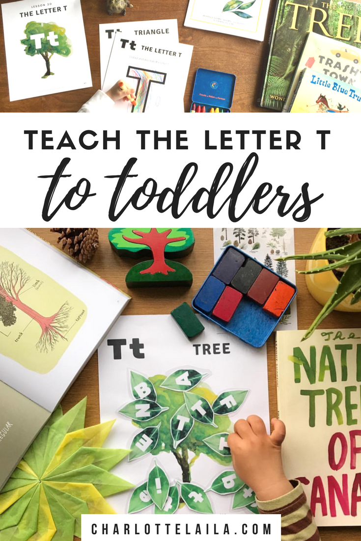 Teaching the letter t to toddlers