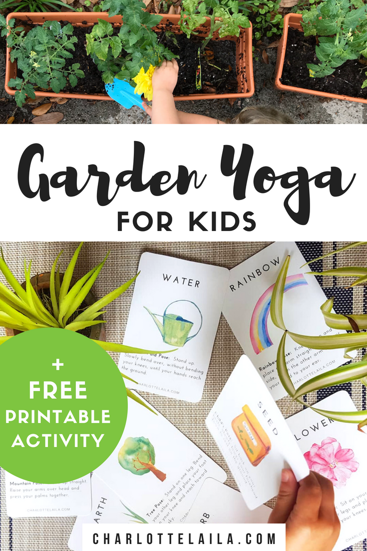Garden yoga for kids