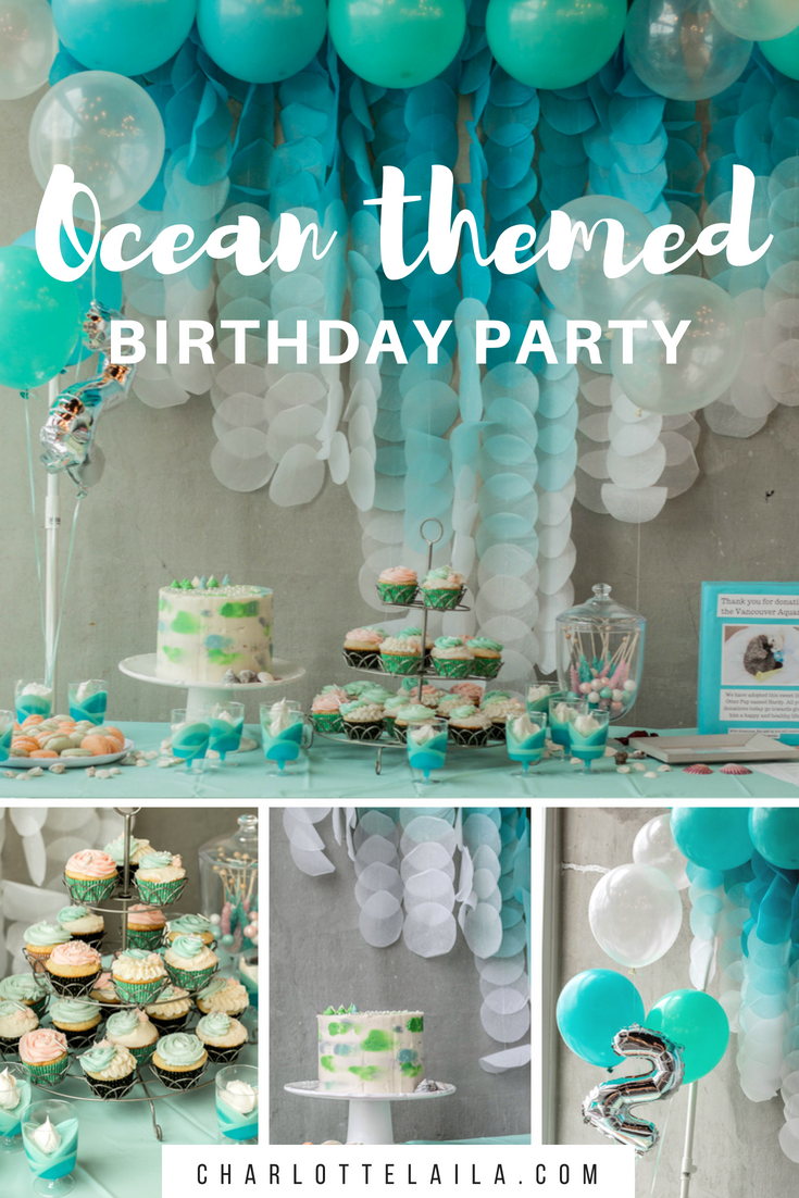 Super Ocean Themed Second Birthday Party Habitat Schoolhouse Funny Birthday Cards Online Aeocydamsfinfo