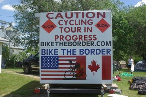 Bike the Border meeting in Velva saturday was great, the park is awesome . Bikers get registered this is going to be a epic ride.