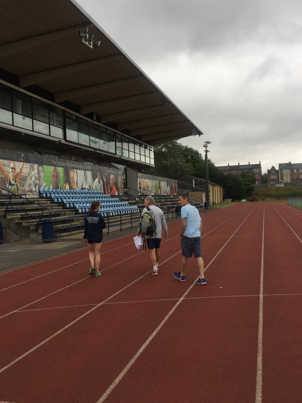 Arriving on the grounds of the iconic Roger Bannister Stadium.