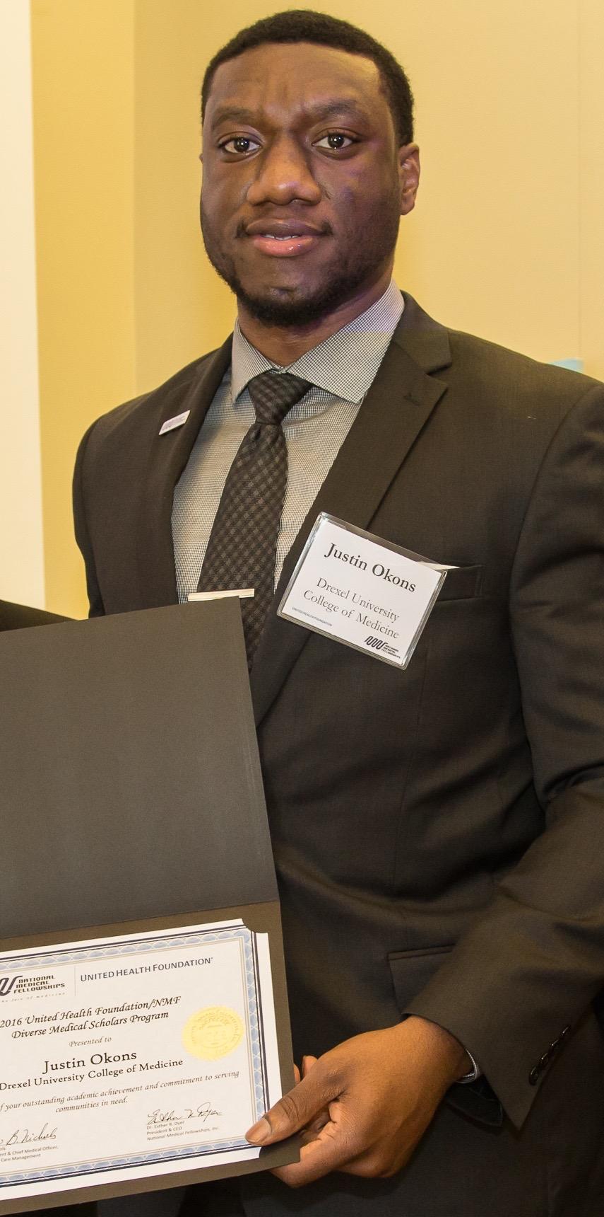 Justin Okons, UNC Charlotte c/o 2011, B.S. Biology