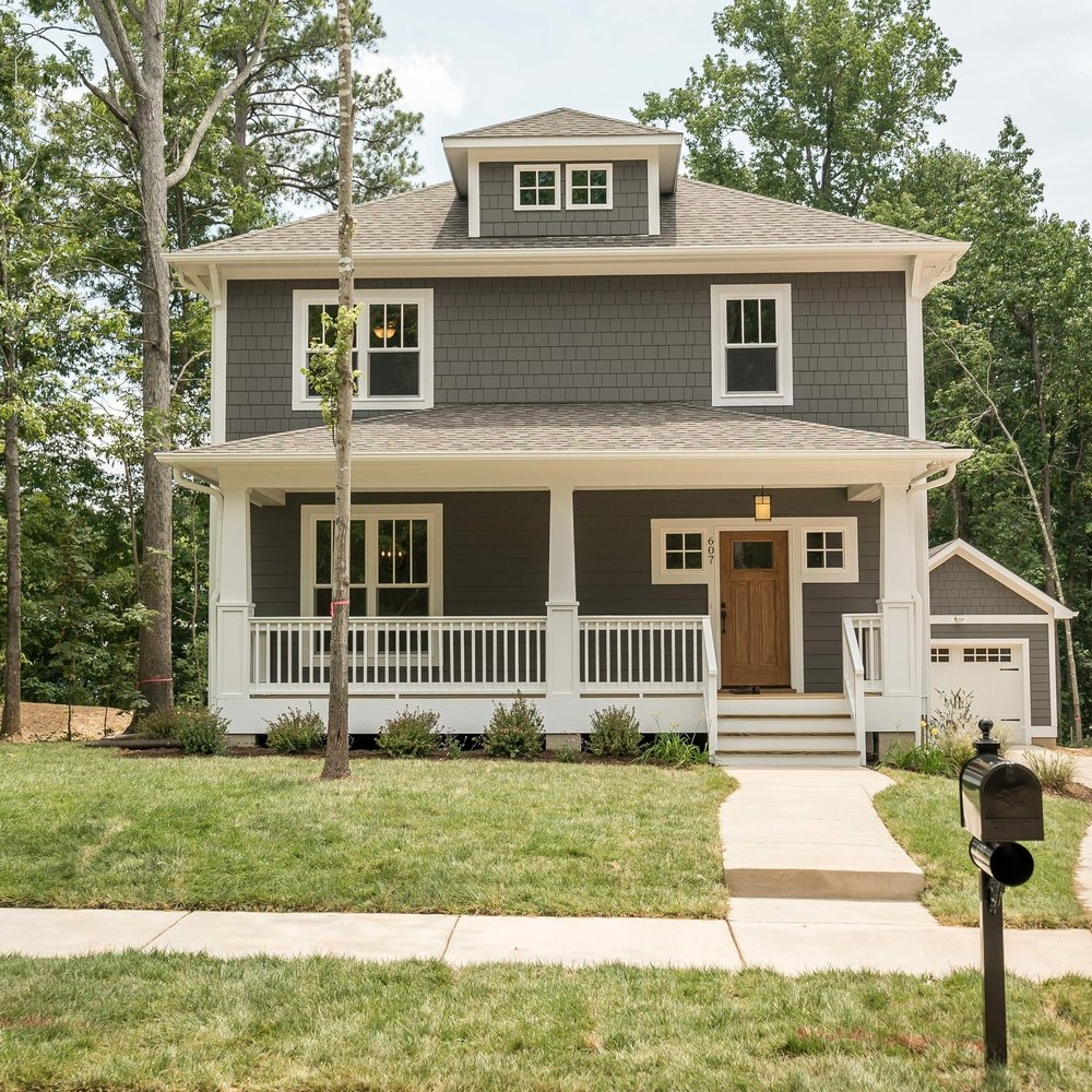 Thompson II - Lot 3(SOLD)  - The Thompson II keeps the same great layout as the original Thompson, but is about 400 square feet larger!  The extra square footage really is the icing on the cake for this well known floorplan, making it a popular seller in Emorywood and a great fit Lakewood.  This home has a formal dining room as well large front porch perfect for summer sitting.3 bedrooms, 2.5 baths1900 square feetView Thompson II Pictures and FloorplanDownload The Specification Sheet